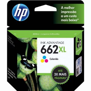 CARTUCHO ORIGINAL HP 662XL COLOR 8,0ML CZ106AB