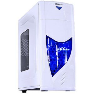 GABINETE GAMER VINIK VX GAMING ECLIPSE V2 BRANCO LED AZUL