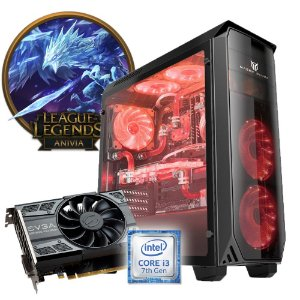 COMPUTADOR GAMER MK I3 7100 8GB DDR4 HD 1TB GTX1050 TI 4GB