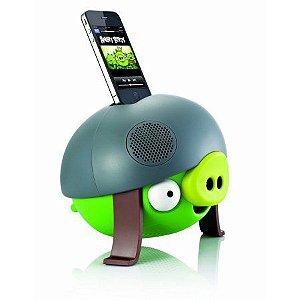 CAIXA DE SOM ANGRY BIRDS HELMET PIG PG543G IPHONE IPOD 2.1 STEREO 30W RMS