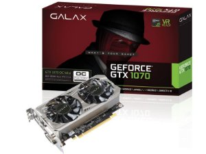 PLACA DE VIDEO GTX 1070 OC MINI 8GB DDR5 256BIT 8000MHZ 1518MHZ 1920 CUDA CORES DVI HDMI DP