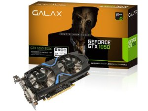 PLACA DE VIDEO GTX 1050 EXOC 2GB DDR5 128BIT 7008MHZ 1417MHZ 640 CUDA CORES DVI HDMI DP