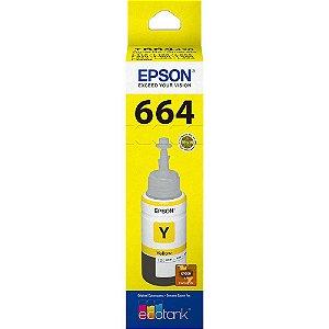CARTUCHO ORIGINAL EPSON T664420 AMARELO L110 L200 L210 L350 L355 L555