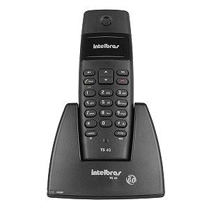 TELEFONE SEM FIO TS40 INTELBRAS PRETO