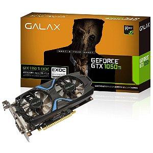 PLACA DE VIDEO 4GB DDR5 PCI-E GTX1050 TI EXOC 128 BITS GALAX 50IQH8DVN6EC