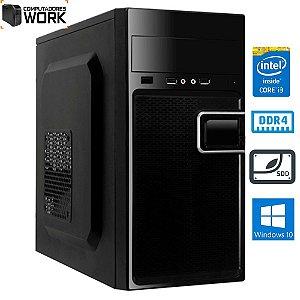 COMPUTADOR MK WORK INTEL I3 8100 4GB DDR4 SSD 240GB GABINETE ATX 200W PRETO