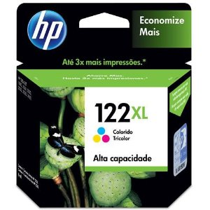 CARTUCHO ORIGINAL HP 122XL CH564HB 7,5ML COLOR