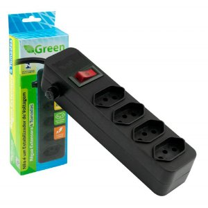 REGUA EXTENSORA 4 TOMADAS GREEN CHIPSCE