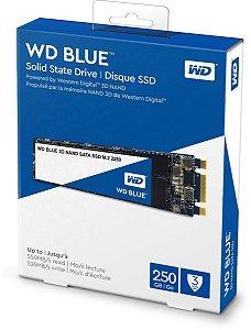 SSD M2 2280 WD BLUE 250GB 7MM SATA 3 3D NAND WDS250G2B0B