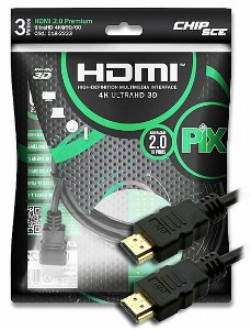 CABO HDMI X HDMI 3M 3D 2.0 4K CHIPSCE