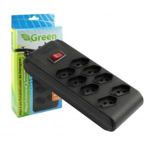 REGUA EXTENSORA 8 TOMADAS GREEN CHIPSCE