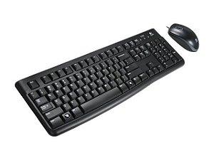 TECLADO E MOUSE LOGITECH MK120 USB PRETO