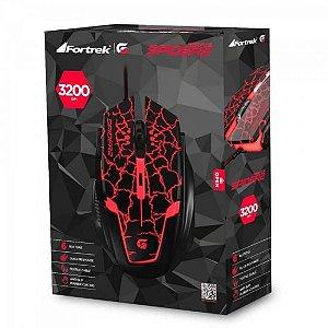 MOUSE GAMER FORTREK SPIDER 2 3200DPI USB OM705PT