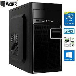 COMPUTADOR MK WORK INTEL G3900 4GB DDR4 SSD 120GB GABINETE ATX 200W PRETO