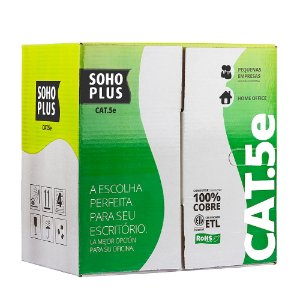 CABO DE REDE SOHO PLUS CAT5E CMX AZ CX 305M BY FURUKAWA
