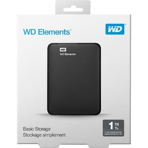 HD EXTERNO 1TB WD ELEMENTS USB 3.0 PRETO WESTERN DIGITAL WDBUZG0010BBK