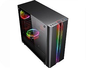 GABINETE GAMER K-MEX CG-04RD ODYSSEY FITA LED RGB S/FONTE