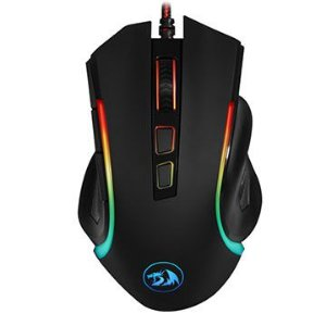 MOUSE GAMER REDRAGON GRIFFIN PRETO COM LED RGB - M607