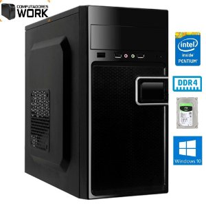COMPUTADOR MK WORK INTEL G5400 4GB DDR4 HDD 320GB GABINETE ATX 200W PRETO