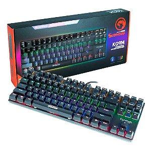 TECLADO GAMER MECANICO COM FIO MARVO KG914 USB 2.0