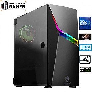COMPUTADOR GAMER MK INTEL i5 10400F 16GB DDR4 SSD 250 NVME GEFORCE GTX 1650 4GB GABINETE ASHE RGB FONTE 500W