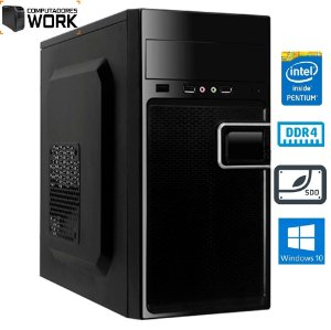 COMPUTADOR MK WORK INTEL PENTIUM G6400 4GB DDR4 SSD 120GB GABINETE ATX 200W PRETO