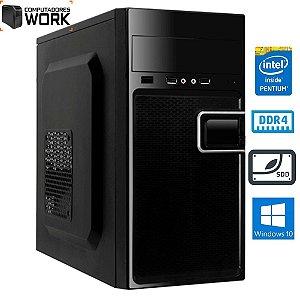 COMPUTADOR MK WORK INTEL G5905 4GB DDR4 SSD 120GB GABINETE ATX 200W PRETO