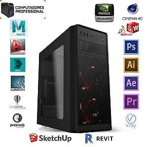 COMPUTADOR PROFESSIONAL MK i5 10400F H410M 8GB SSD 240GB GABINETE PIXXO FONTE 600W PLACA DE VIDEO QUADRO P400 2GB