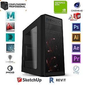 COMPUTADOR PROFESSIONAL MK i5 10400F H410M 16GB SSD 240GB GABINETE PIXXO FONTE 600W PLACA DE VIDEO GTX 1650 4GB