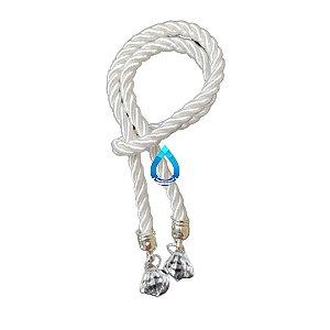 Cordão Para Difusor de Ambiente Branco com Prata