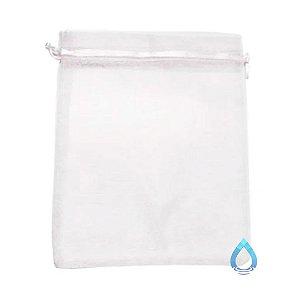 Saco de Organza (Tule) Branco 15 x 20