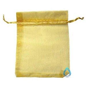 Saco de Organza (Tule) Dourado 11 x 14