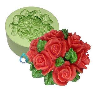 Fôrma de Silicone Ramalhete de Rosas