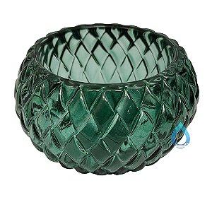 Castiçal Decorativo Verde em Vidro