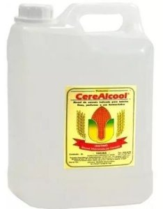 Álcool de Cereais 96º Extrafino Bombona 05 Litros