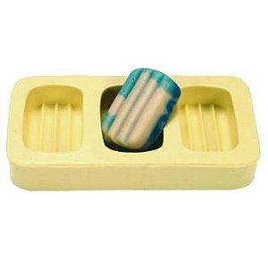 Fôrma de Silicone Canelado Mini (3 cav.)