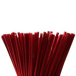 Vareta de Fibra Vermelha 4 mm x 25 cm - Unidade