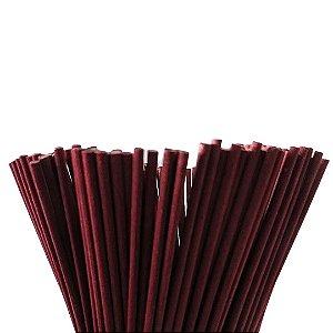 Vareta de Fibra Vinho 4 mm x 25 cm - Unidade