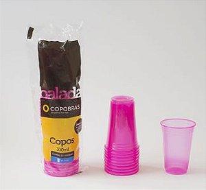 Copo Copobras Balada Neon Rosa 300ML 25X1