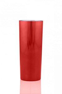 Copo Long Drink Vermelho Metalizado 350ML