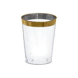 Copo Silverplastic Gold Premium Transp. 300ML 6X