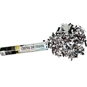 Lança Confetes Popper Chuva De Prata