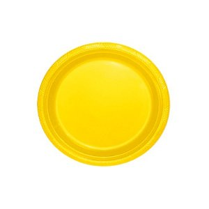 Prato Silverplastic Amarelo 23X23 10X1