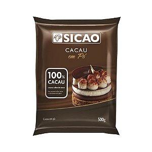 CHOCOLATE EM PÓ SICAO 100% CACAU 500G