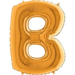 """Balão Flexmetal Dourado """"B"""" 40''/101CM"""