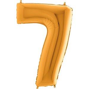 """Balão Flexmetal Dourado """"7"""" 40''/101CM"""