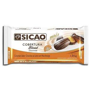 COBERTURA SICAO BLEND CHOCOLATE AO LEITE MEIO AMARGO 1,01KG
