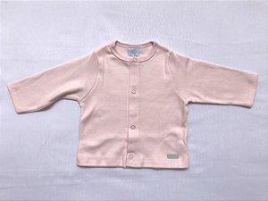 Casaquinho Básico Rosa Bebê