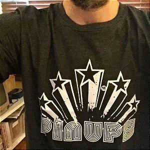 Camisa Pin Ups Stars Preta