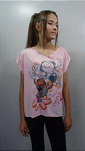 Blusa Fenda - 383-DN Giselle c/ margaridas - Tamanho Único